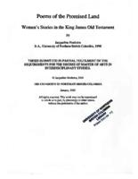 Poems of the promised land: women's stories in the King James Old Testament