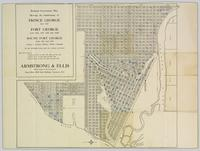 Reduced Government Plan Showing Subdivisions of Prince George (Lot 343), Fort George (Lots 936, 937, 938, and 1429), and South Fort George (Lots 933 and 934)