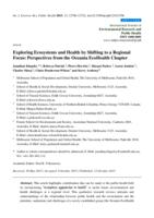Exploring Ecosystems and Health by Shifting to a Regional Focus: Perspectives from the Oceania EcoHealth Chapter