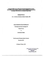 Testing the effectiveness of non-governmental organizations (NGOs): case studies of the landmines initiative and the Multilateral Agreement on Investment with a focus on Canadian foreign policy
