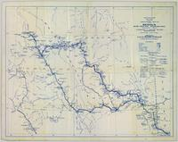 Preliminary plan showing travelled route of the Bedaux sub-arctic exploration